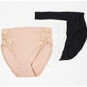 Breezies Set of 3 Soft Support Lace Brief Panties